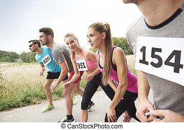 schauen, rivale, marathon, größten