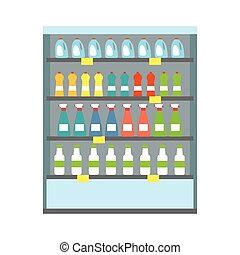 schaukasten, kühlschrank, getrãnke