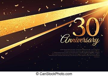 scheda, 30th, anniversario, sagoma, celebrazione