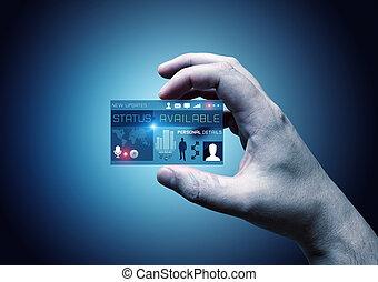 scheda, affari digitali