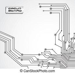 scheda circuito, isolato