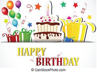 scheda compleanno, celebrazione