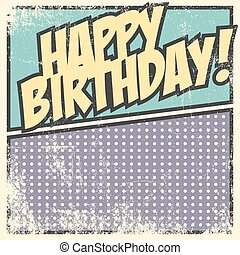 scheda compleanno, felice