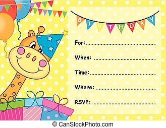 scheda compleanno, invito