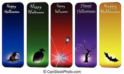 scheda, felice, halloween