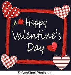scheda, felice, valentine, disegno, giorno, augurio