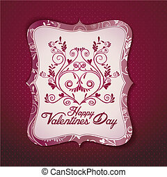 scheda giorno valentine, vettore, templat