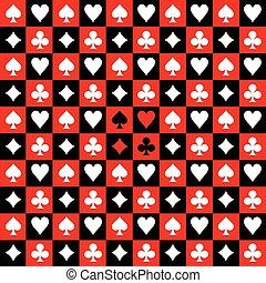 scheda, nero, asse, fondo, completo, rosso, scacchi