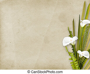 scheda, per, invito, o, congratulazione, con, fiori