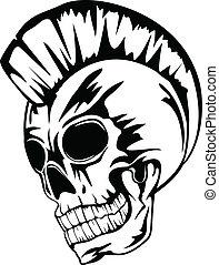 schedel, punker