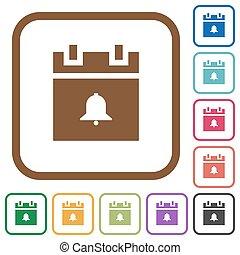 Schedule alarm simple icons
