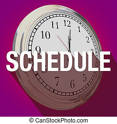 Schedule Clock Long Shadow Appointment TIme Meeting -...