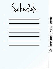 Schedule Page On White Background