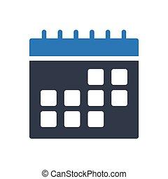 schedule  glyph color icon