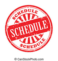 schedule grunge rubber stamp