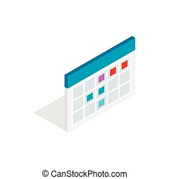 Schedule icon in isometric 3d style