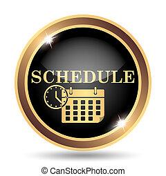 Schedule icon. Internet button on white background.