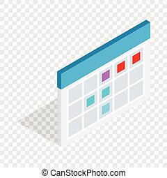 Schedule isometric icon