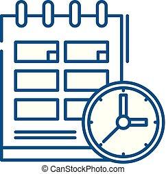 Schedule line icon concept. Schedule flat vector symbol, sign, outline illustration.