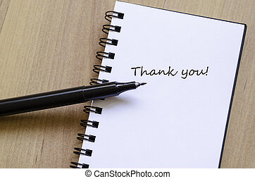 Schedule Notepad Thank you note