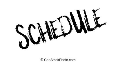 Schedule rubber stamp