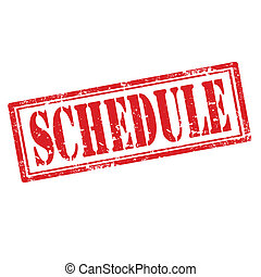 Schedule-stamp - Grunge rubber stamp with text...