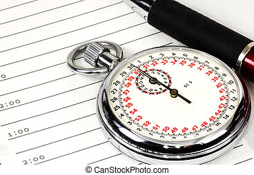 Stopwatch and Appointment Book
