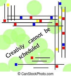 scheduled, blive, kan ikke, kreativitet
