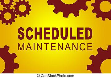 Scheduled Maintenance concept - SCHEDULED MAINTENANCE sign...
