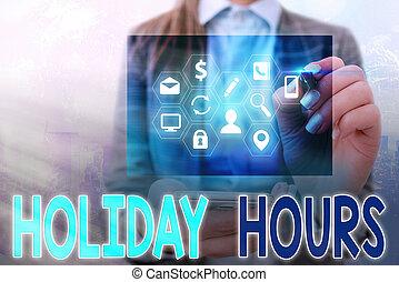 schedules., concetto, vacanza, flessibile, straordinario, testo, personale, scrittura, sotto, lavoro, scrittura, hours., significato