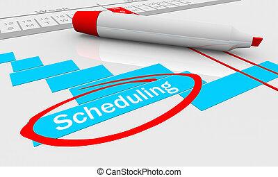Scheduling Timing Progress Gantt Chart 3d Illustration