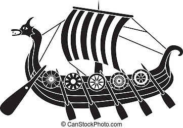 scheeps , oud, schilden, vikings