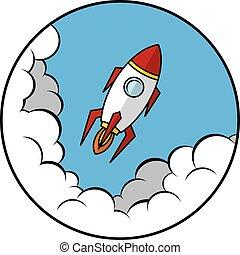 scheeps , vector, raket, ruimte