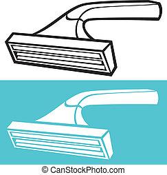 scheermes, beschikbaar, het scheren