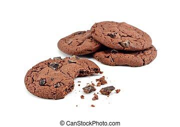scheggia, biscotti, briciole, cioccolato