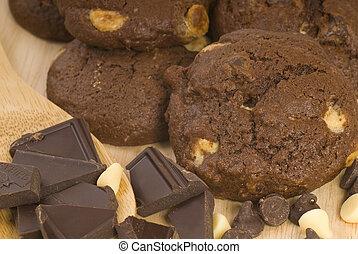 scheggia, biscotti, triplo, cioccolato