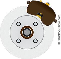 scheibe, bremse, system, hydraulisch