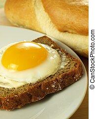 Scheibe, Sonnig, Auf, ei, Seite,  bread