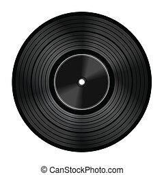 scheibe, vinyl, ton