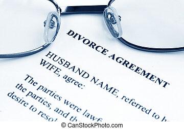 scheiding, overeenkomst