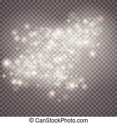 scheinen, explosion, sonne, effekt, bersten, sonne, star., flare.center, abbildung, glühen, dekoration, hintergrund., hell, vektor, ray., flash.star, licht, weißes, beschwingt, durchsichtig, lichtdurchlässig