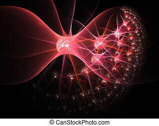 scheinen, vernetzung, flecke, neural