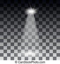 scheinwerfer, licht, szene, abbildung, effects., vektor,...