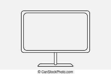 Schematically TV. Modern Flat style Illustration.