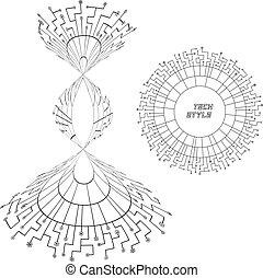 Scheme. - Abstract scheme. Digital illustration. Network ...