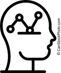 Scheme crisis mind icon, outline style
