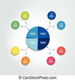 scheme., organigramme, element., diagramme, infographic