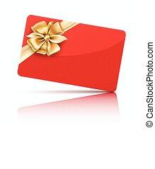 schenking kaart, rood