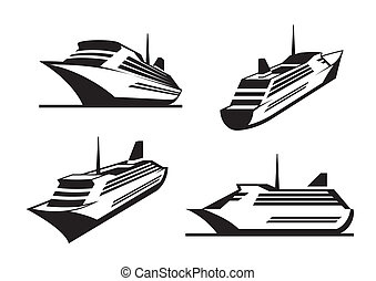 schepen, perspectief, cruise