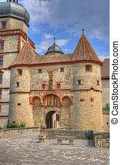 Scherenbergtor in Marienberg Fortress (Castle), Wurzburg, Bayern, Germany